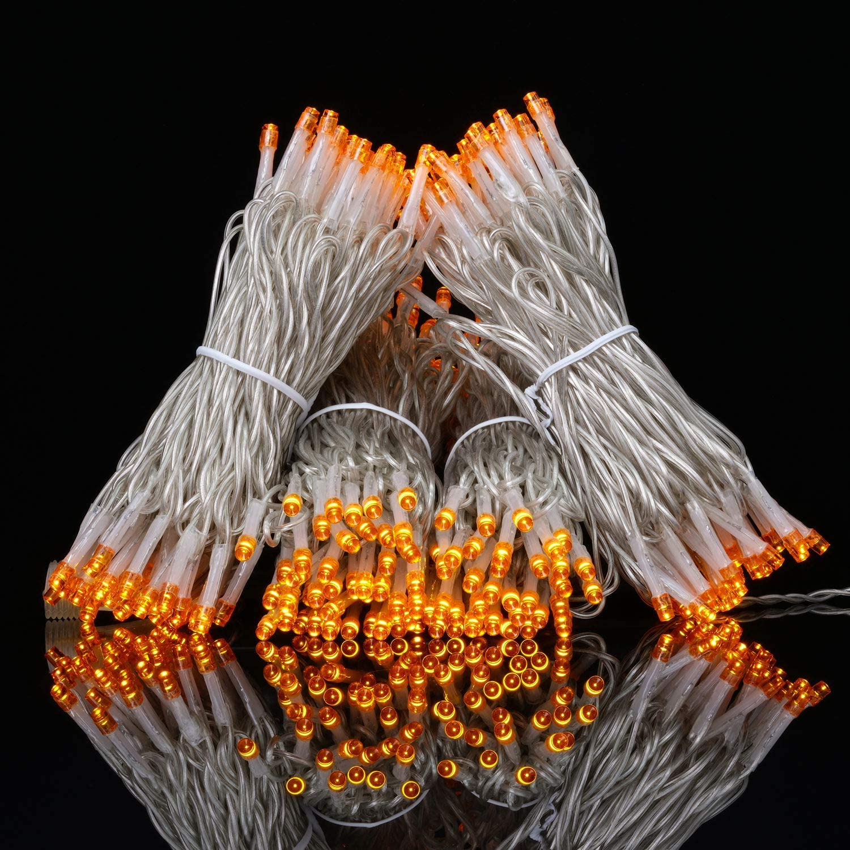 100 Feet 300 Orange LED String Lights