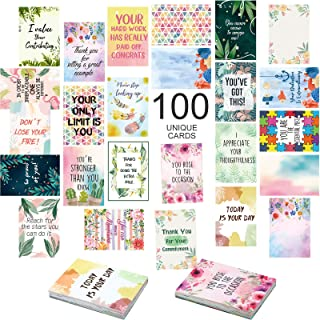 100 Motivational Cards Unique Inspirational Cards for Employees Business Card Sized Encouragement Cards Appreciation Cards...