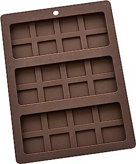 Mrs. Anderson's Baking Triple Chocolate Bar Mold, Non-Stick European-Grade Silicone, Makes 3 Standard-Sized Chocolate Bars