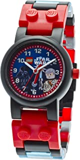 Lego Kids' 9001192 Star Wars Darth Vader vs. Obi-Wan Kenobi Analog Japanese Quartz Multicolor Plastic Bracelet Watch with Two Minifigures