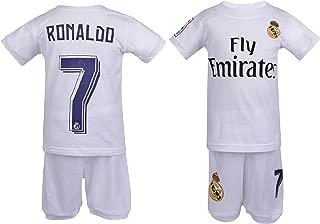 major sports Soccer PJs Cristiano Ronaldo #7 Jersey Style Pajama ✓ Real PJ Madrid Ronaldo 7 Soccer Jersey & Shorts Kids 100% Cotton Pyjama Sleepwear Set ✓ Premium Quality