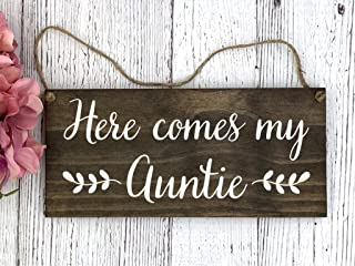 Wedding Wood Sign I/'m just here for the cake! WalnutGray Flower Girl Sign Wedding Photo Prop 12x5.5 Ring Bearer Sign