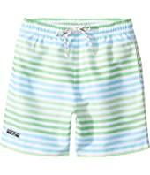 Toobydoo - Swim Shorts Multi Green Stripe (Short) (Infant/Toddler/Little Kids/Big Kids)