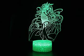 LED light 3D Night Light Decoration, 3D Illusion Lamp 3 Pattern& 16 Colors Changing with Remote (Unicorn with Mermaid)