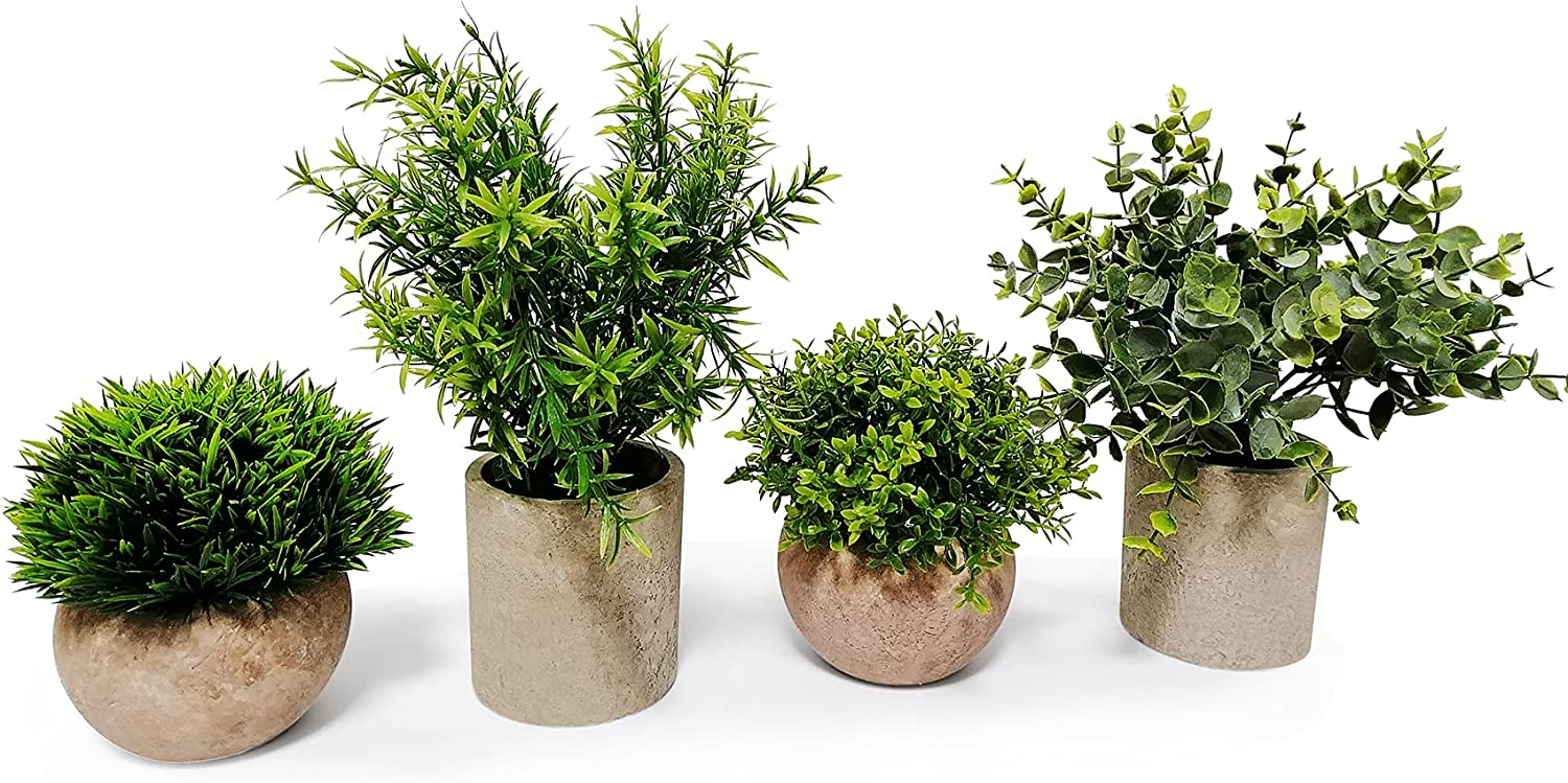 Artificial Mini Potted 4 years warranty Plants Set of Faux Fake Artific 2021 model 4 Table