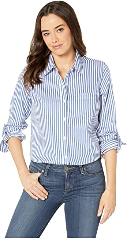Yarn-Dye Stretch Shirting Roll Up Sleeve Shirt