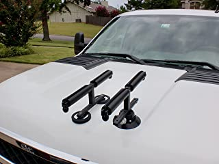 Tight Line Enterprises Fishing Rod Racks for Vehicles (Truck or SUV) - Magnets For Metal Hoods Only and/or Vacuum Cups For All Metal/Non Metal Hood Types