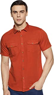 ABOF Men's Plain Slim Fit Casual Shirt