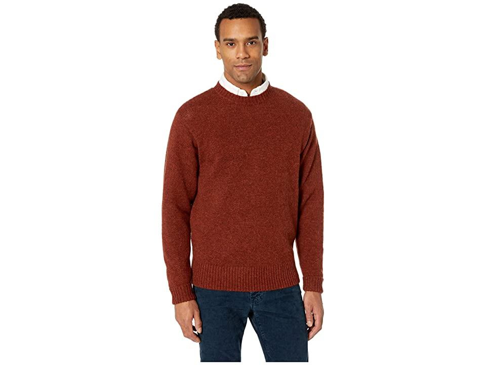 Pendleton Shetland Crew Sweater (Umber) Men