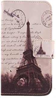 """Lankashi Pattern PU Leather Wallet Flip Cover Skin Protection Case for Easyfone Prime A5 1.8"""" (Stamp Tower Design)"""