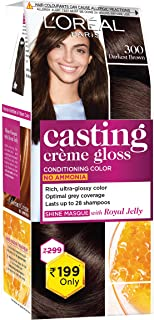L'Oreal Paris Casting Crème Gloss Small Pack, 300 Darkest Brown, 45g