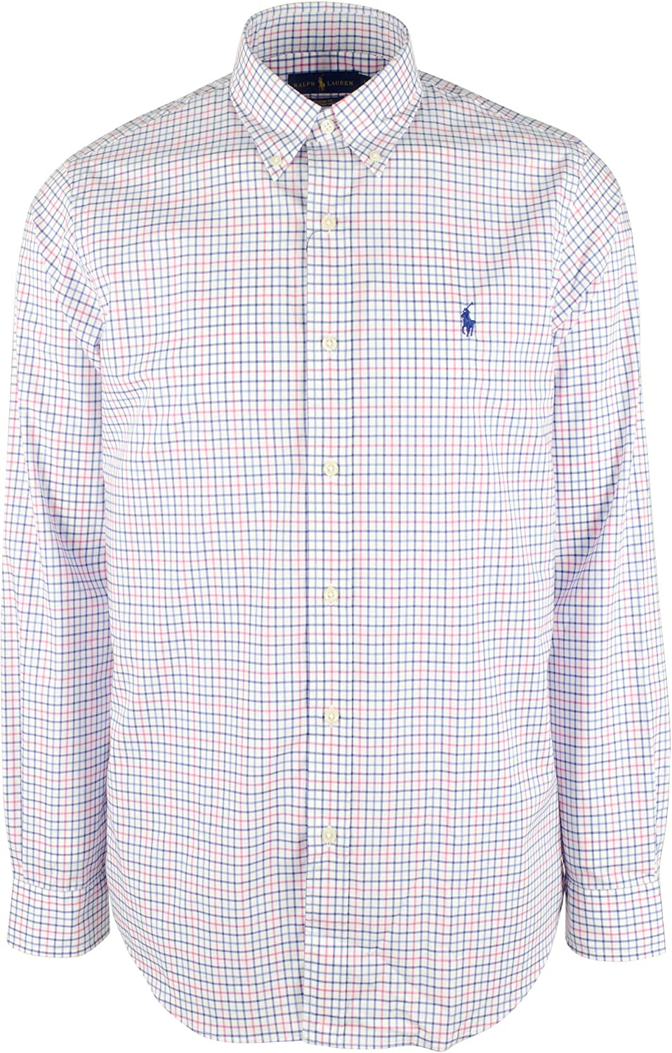 Polo Ralph Lauren Men's Big and Tall Checked Long Sleeves Shirt