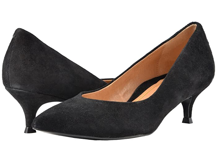 VIONIC  Josie (Black Suede) Womens 1-2 inch heel Shoes