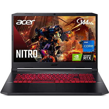 "Acer Nitro 5 AN517-54-77KG Gaming Laptop | Intel Core i7-11800H | NVIDIA GeForce RTX 3050Ti Laptop GPU | 17.3"" FHD 144Hz IPS Display | 16GB DDR4 | 1TB NVMe SSD | Killer Wi-Fi 6 | Backlit Keyboard"