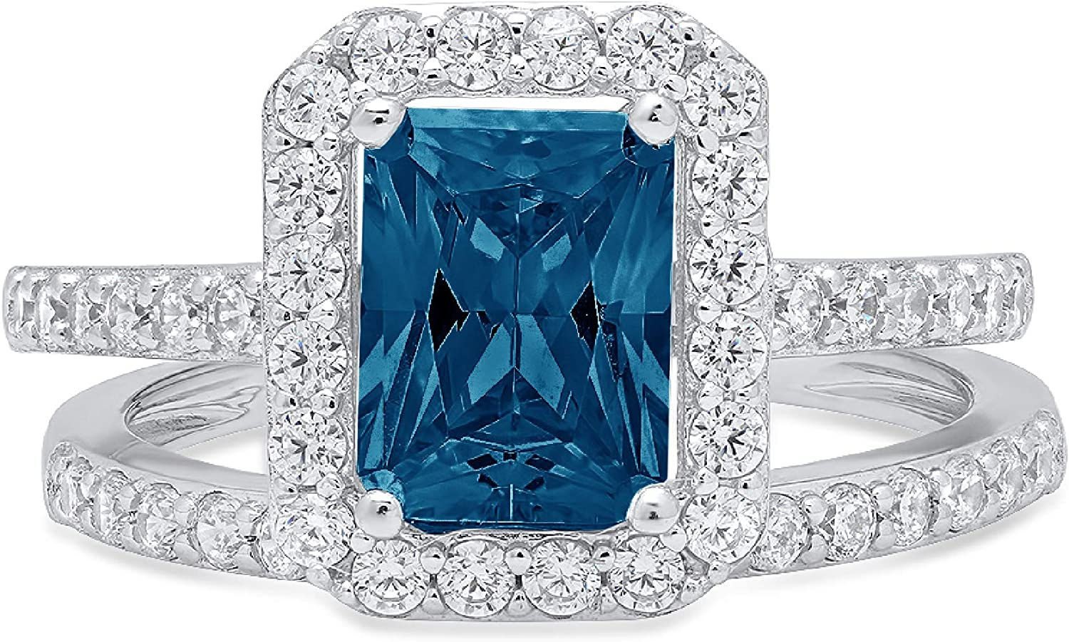 Outlet sale feature 2.17ct Emerald Round Cut Pave Accent Special Campaign Natural with Solitaire Halo