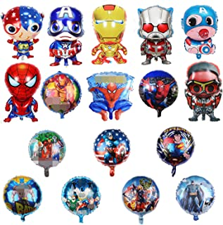 17 pack Superhero Birthday Party Mylar Foil Balloon Avengers Super Hero Birthday Party Supplies Party Decorations