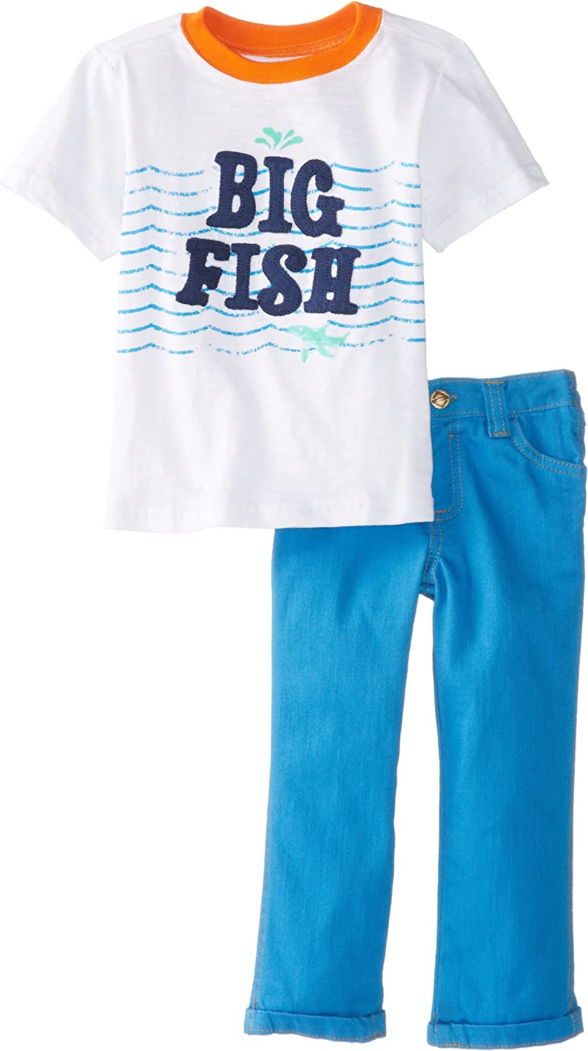 Nannette Baby Boys' 2 Piece Blue Pullover and Pant