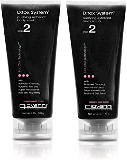 Giovanni D;tox System Purifying Body Scrub, (step 2), 6-Ounces (Pack of 2)