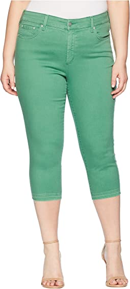 Plus Size Capris w/ Released Hem in Cactus United States