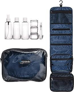 neceser hombre bolsa de aseo para colgar neceser de viaje transparente compartimentos , , equipaje de mano, transporte de líquidos en el avión,accesorios de baño, bolso , envases