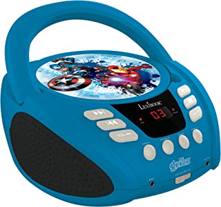 Lexibook Marvel The Avengers Iron Man CD Player, Aux-in Jack, AC or Battery-Operated, Blue/Black, RCD108AV_10