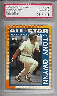 1990 Topps Tiffany Baseball Tony Gwynn All-Star Card # 403 PSA 8 NM-MT