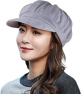 EINSKEY Baseball Cap for Women, Black Gray Beige Visor Beret Newsboy Hat