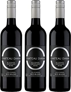 Chateau Diana Zero 3 Bottle Pack - Alcohol Removed California Red Wine Blend (Red Blend 3 Pack)