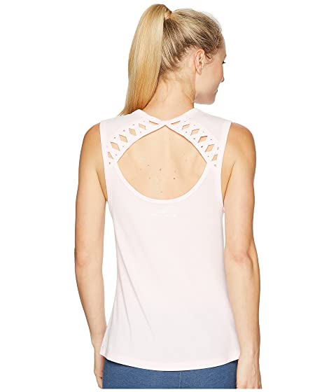 LORNA JANE Billie Tank Top, Pastel Pink Marl