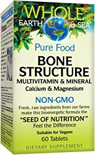 Whole Earth & Sea from Natural Factors, Bone Structure Multivitamin & Mineral, Whole Food Supplement, Vegan and Gluten Fre...