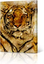 Tiger Canvas Print Watercolor Paint Canvas Wall Art Animal Wall Art Home Decor Ready to Hang- Made in USA- 12x8 inches