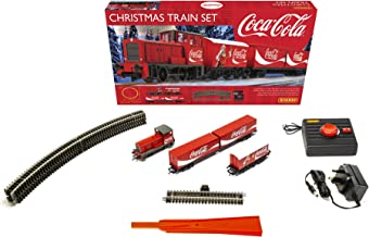 Hornby Hobbies The Coca-Cola Christmas Electric Model Train Set HO Track with Remote Controller & US Power Supply R1233