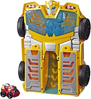"Playskool Heroes Transformers Rescue Bots Academy Bumblebee Track Tower 14"" Playset, 2-in-1 Converting Robot, Collectible ..."