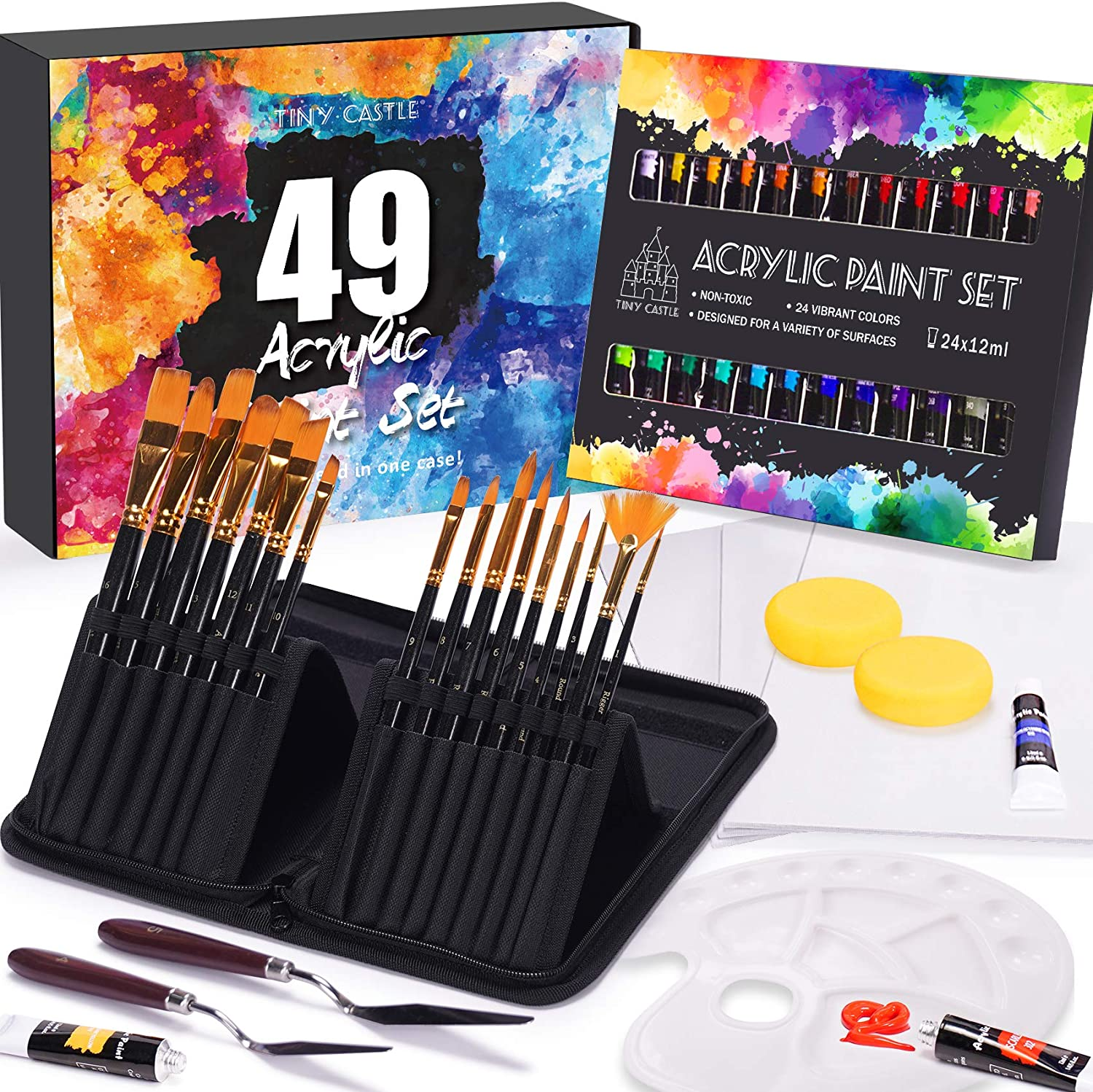 49 Pieces Art In stock set Acrylic Paint Pro Set for and kids Limited time free shipping Beginners