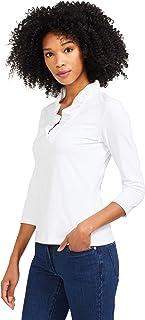 J.McLaughlin Womens Durham Ruffle Top in White