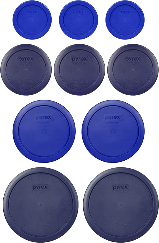 Pyrex 2 7402 PC 6 7 Cup Blue 2 7201 PC 4 Cup Cadet Blue 3 7200 PC 2 Cup Blue 3 7202 PC 1 Cup Cadet Blue Replacement Food Storage Lids