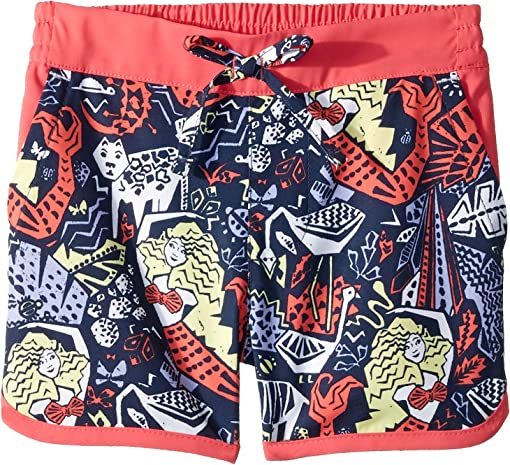 Nocturnal Mermaid Jungle Print/Bright Geranium
