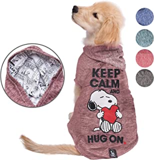 Snoopy Dog Clothes Hoodie | Lightweight Sweatshirt for Dogs & Cats in 5 Different Sizes and Styles |Supreme Hoodies for Dogs, Puppy to XL Pets Dog Sweatshirts for Small, Medium and Large