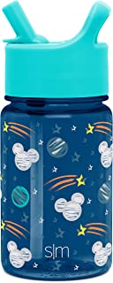 Simple Modern Disney 12oz Summit Kids Tritan Water Bottle with Straw Lid for Toddler - Dishwasher Safe Travel Tumbler - Di...