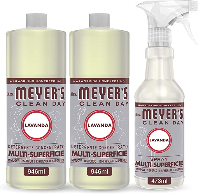 216 opinioni per Mrs Meyer's Clean Day- 1 Spray Multisuperficie + 2 Detergente Concentrato