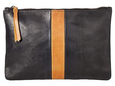 ABLE Martha Zip Pouch (Black/Cognac) Bags