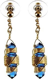 Buddha Maitreya the Christ Etheric Weaver® Earrings in 12k Gold-fill Wire - Quartz Crystal Vibrational Healing Tools