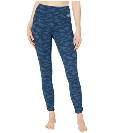 New Balance Q Speed Run Crew Tights (Natural Indigo) Women