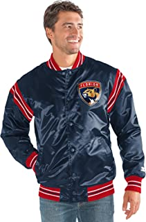 STARTER Adult Men The Enforcer Satin Jacket LSY10240, Navy, Medium