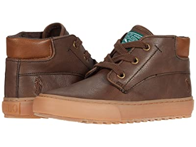 Polo Ralph Lauren Kids Wyse (Little Kid) (Chocolate Burnished/Gum) Boys Shoes
