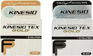 "Kinesio Tex Gold Tape 2"" x 16.4' Beige & Black Combo Pack"