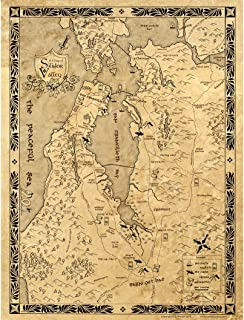 Fantasy Map of Silicon Valley, 18 X 24 Inch Art Poster, Silidor Valley in LotR Style