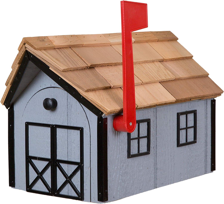 Amish Cedar Roof Wooden Mailbox with Trim Window Wholesale Light G Ranking TOP19 Door