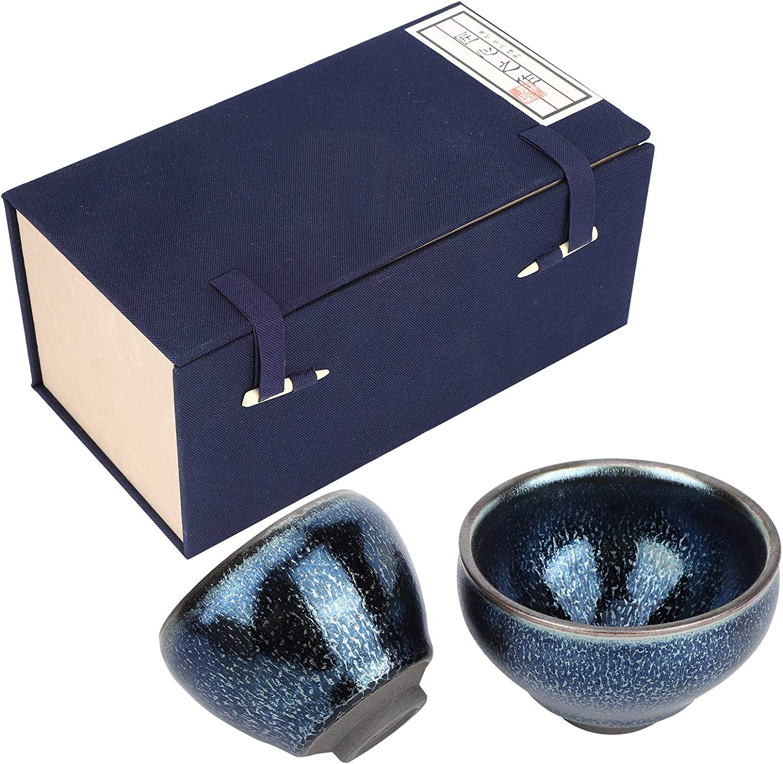 Single Cup Master Houston Mall Set Pair 2021 model Glazed Tea Ceramic Cups 2Pcs