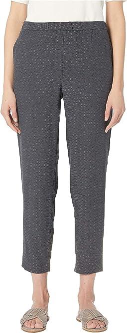 Morse Code Tencel Viscose Slouchy Ankle Pants